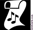 music note Vector Clipart image