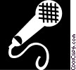 Vector Clip Art picture  of a microphone