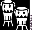 Vector Clip Art graphic  of a bongo drums