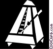 Vector Clip Art picture  of a metronome