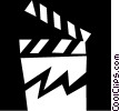 clapper board Vector Clipart picture