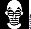 African masks Vector Clipart picture