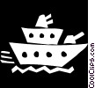 Vector Clipart graphic  of a battle ship