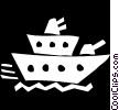 battle ship Vector Clipart picture