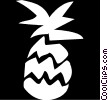 Vector Clip Art graphic  of a pine apple
