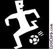 Vector Clip Art picture  of a soccer player