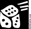 Vector Clipart graphic  of a dice
