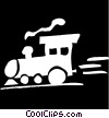 Vector Clip Art image  of a train engine