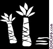 Vector Clip Art image  of a palm tree