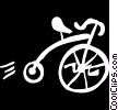 Vector Clip Art picture  of a penny farthing