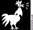 rooster Vector Clipart graphic
