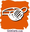Vector Clipart image  of a whistle