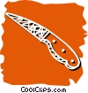 Vector Clipart image  of a knife