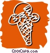 Vector Clipart illustration  of a ice cream cone
