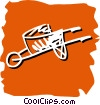 wheelbarrow Vector Clip Art image