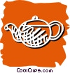 Vector Clipart image  of a teapot