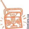 Vector Clipart graphic  of a transistor radio