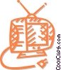 Vector Clip Art image  of a television set