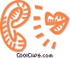 mouth and ear Vector Clip Art graphic