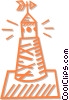 Vector Clipart graphic  of a buoy/channel markers
