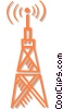 Vector Clipart graphic  of a communication tower