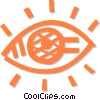 Vector Clipart image  of a human eye