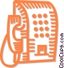 Vector Clip Art image  of a public telephone
