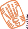 x-ray of hands Vector Clipart image