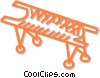 Vector Clipart picture  of a stretcher