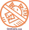 Vector Clip Art graphic  of a no dogs sign