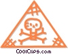 Vector Clip Art graphic  of a poison