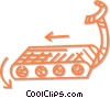 Vector Clipart picture  of a treadmill