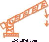 Vector Clipart graphic  of a toll gate