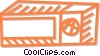 Vector Clip Art graphic  of a microwave oven