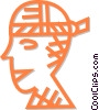 bandaged head Vector Clipart illustration