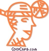 Vector Clip Art image  of a doctor's headgear