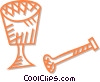Vector Clipart image  of a mortar and pestle