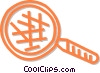 magnifying glass Vector Clip Art graphic