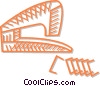 Vector Clipart graphic  of a stapler with staples