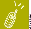 Vector Clipart illustration  of a Cellular Wireless and Cordless