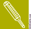 Vector Clip Art image  of a thermometer