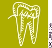 tooth Vector Clipart image