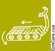 Vector Clipart illustration  of a Treadmills