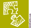 Vector Clipart graphic  of a jigsaw puzzle pieces