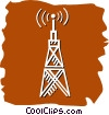 Vector Clipart graphic  of a Communication Towers