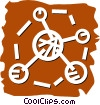 Vector Clip Art graphic  of a Molecules and Atoms