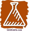 Beakers Flasks and Test Tubes Vector Clipart image