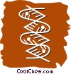 Vector Clipart illustration  of a DNA