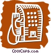 Vector Clip Art graphic  of a Public Pay Phones