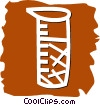 Vector Clipart image  of a Beakers Flasks and Test Tubes